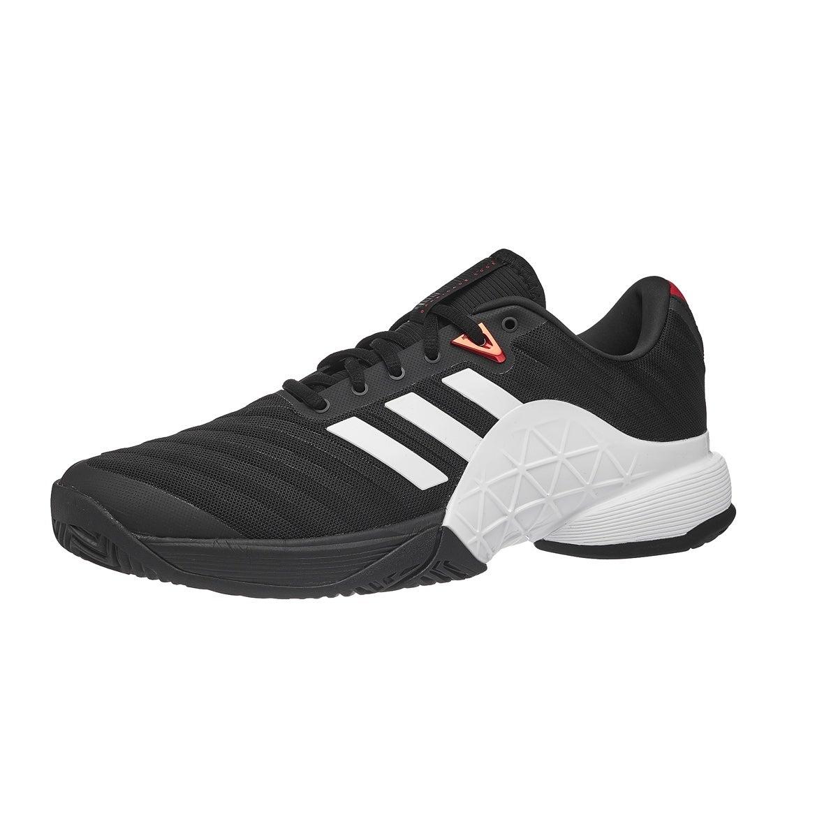 adidas barricata nero / bianco / 2018 scarlet scarpe da uomo 360 ° vista