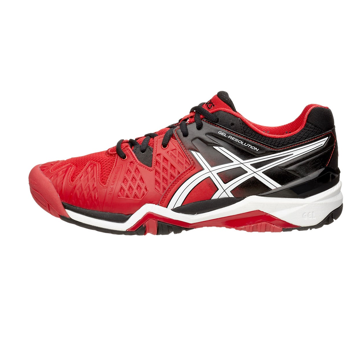 Asics Red Black Tennis Shoes