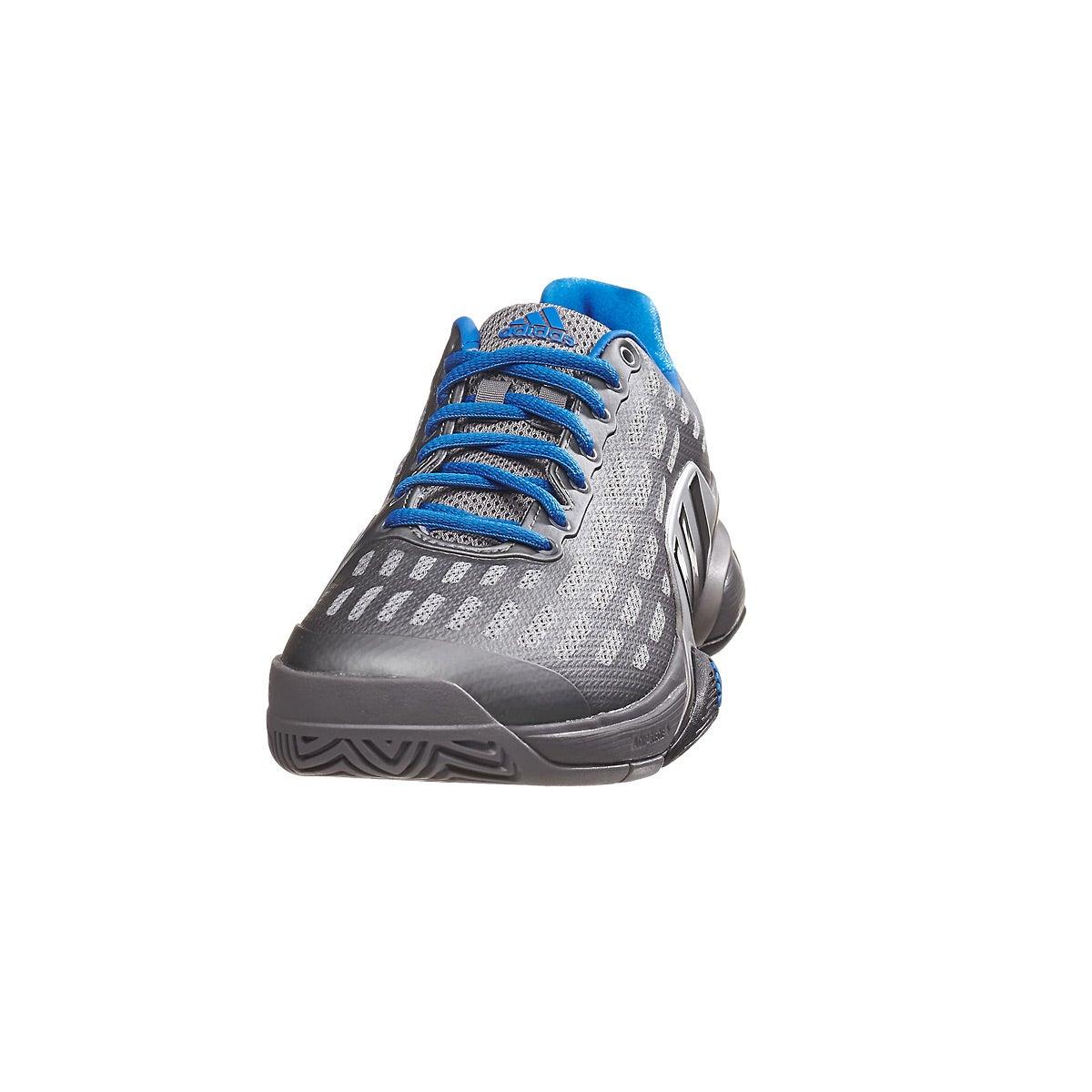 adidas Barricade 2016 Grey/Royal Men's Shoe 360° View
