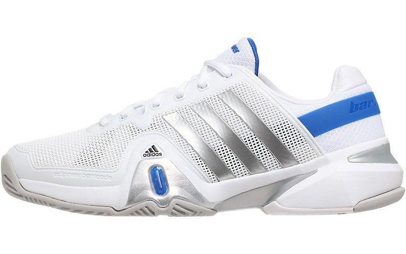 adidas barricade 8 white/silver/blue
