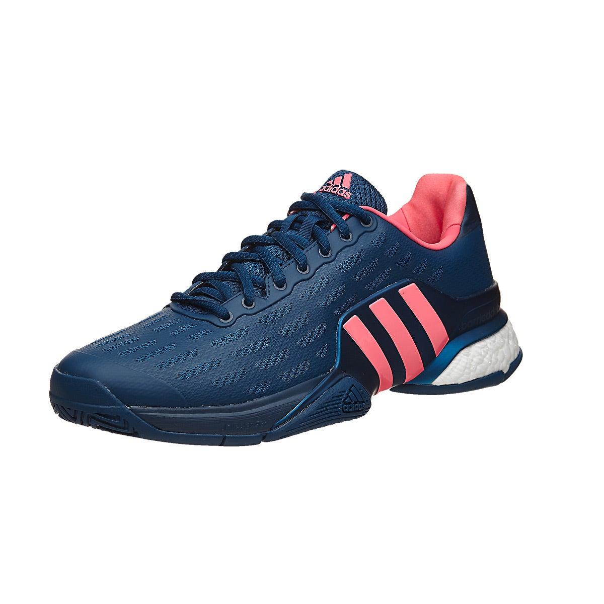 adidas barricade 2016 boost navy pink mens shoe