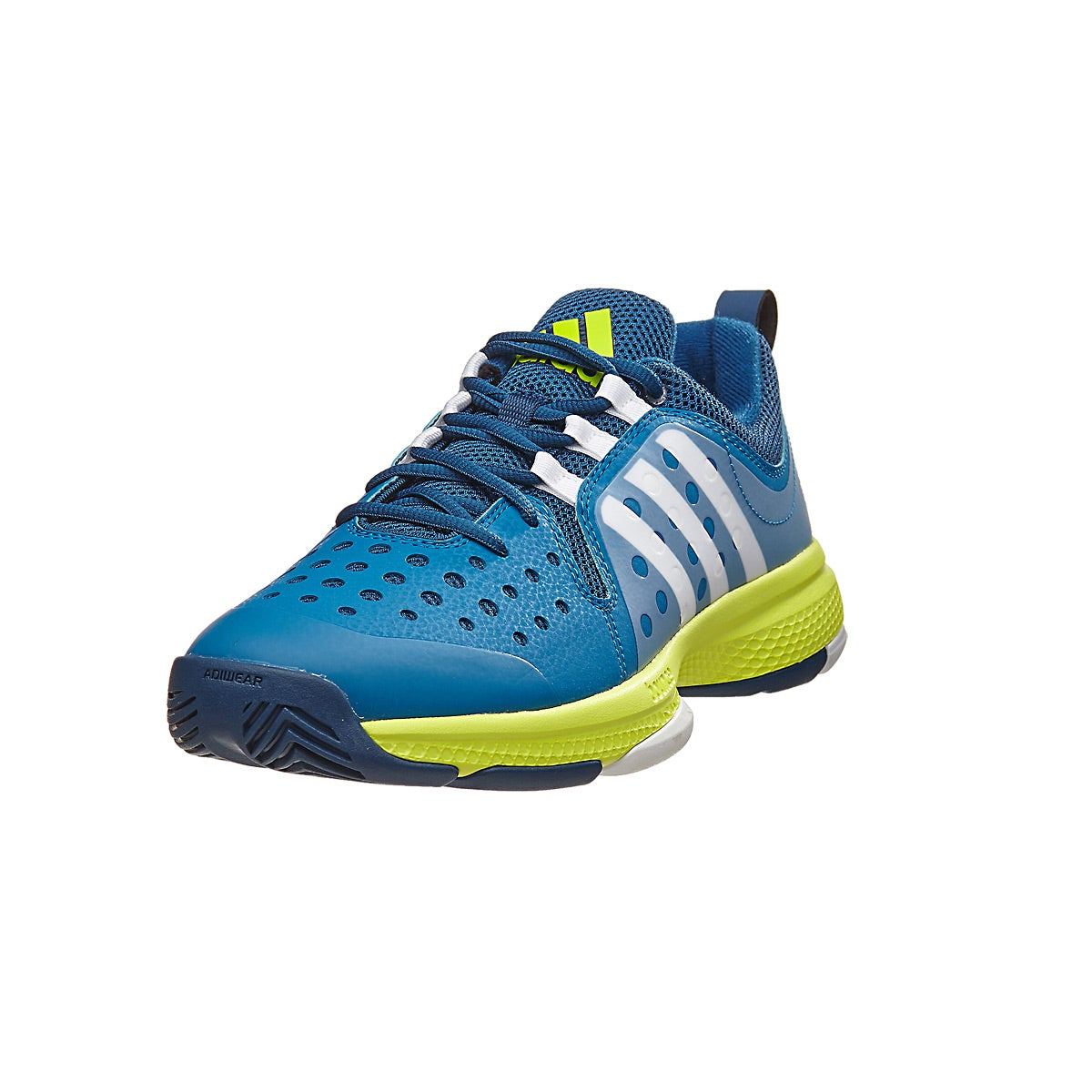 adidas barricade classic bounce navy/lime mens shoes