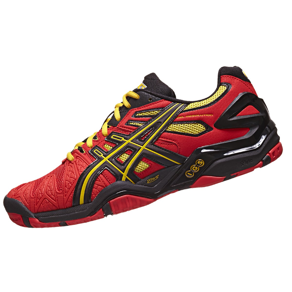 Asics Red And Yellow Shoes