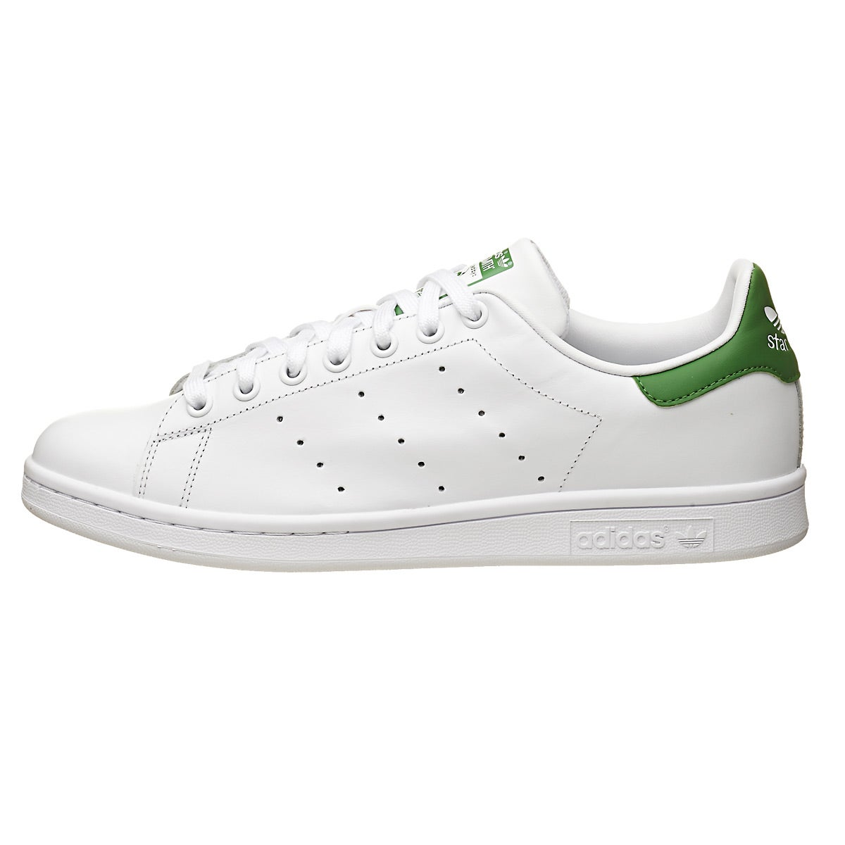 adidas Originals Stan Smith White/Green Men\u0027s Shoe 360� View.