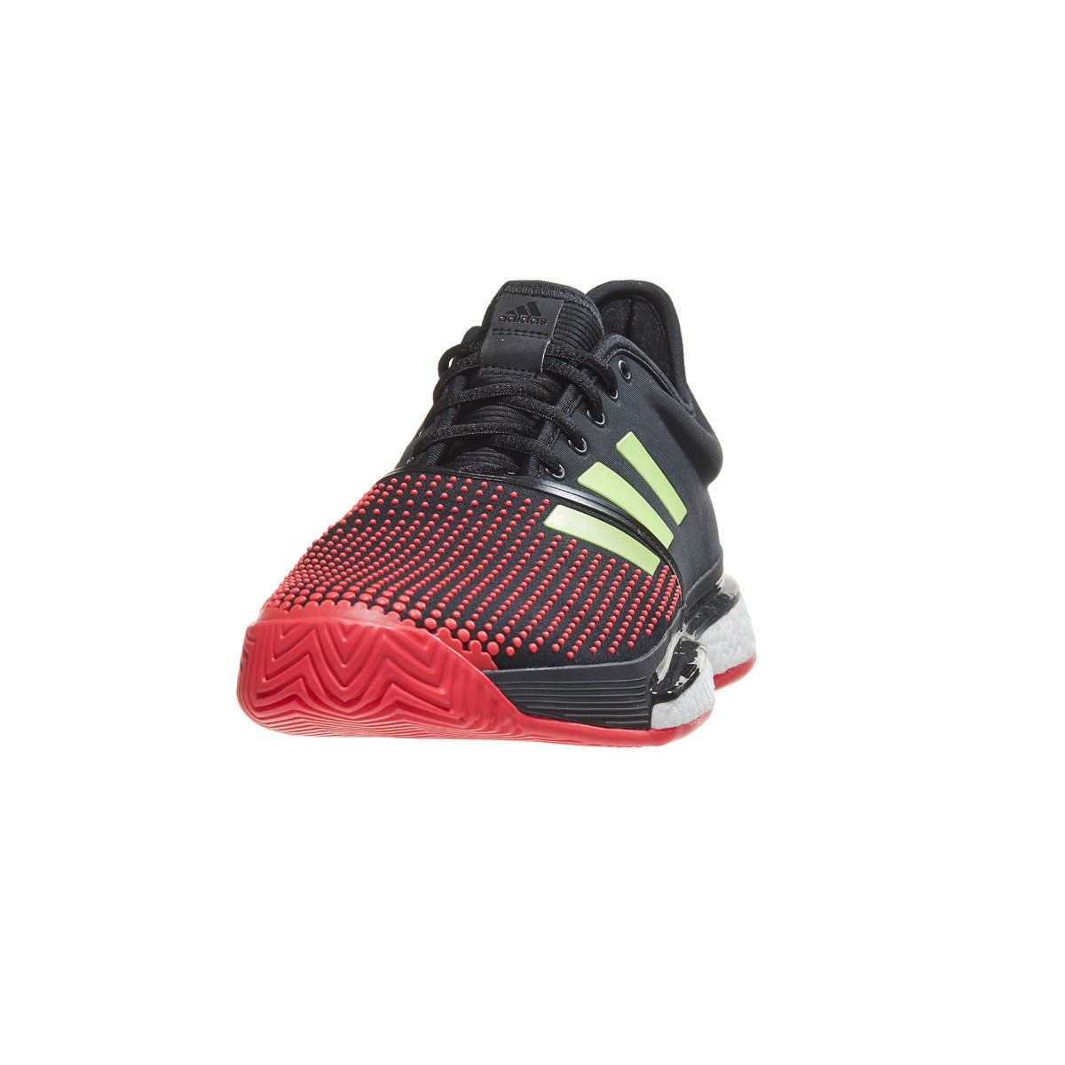 brand new fc9ce ee931 adidas SoleCourt Boost Bk Red Green Men s Shoes 360° View