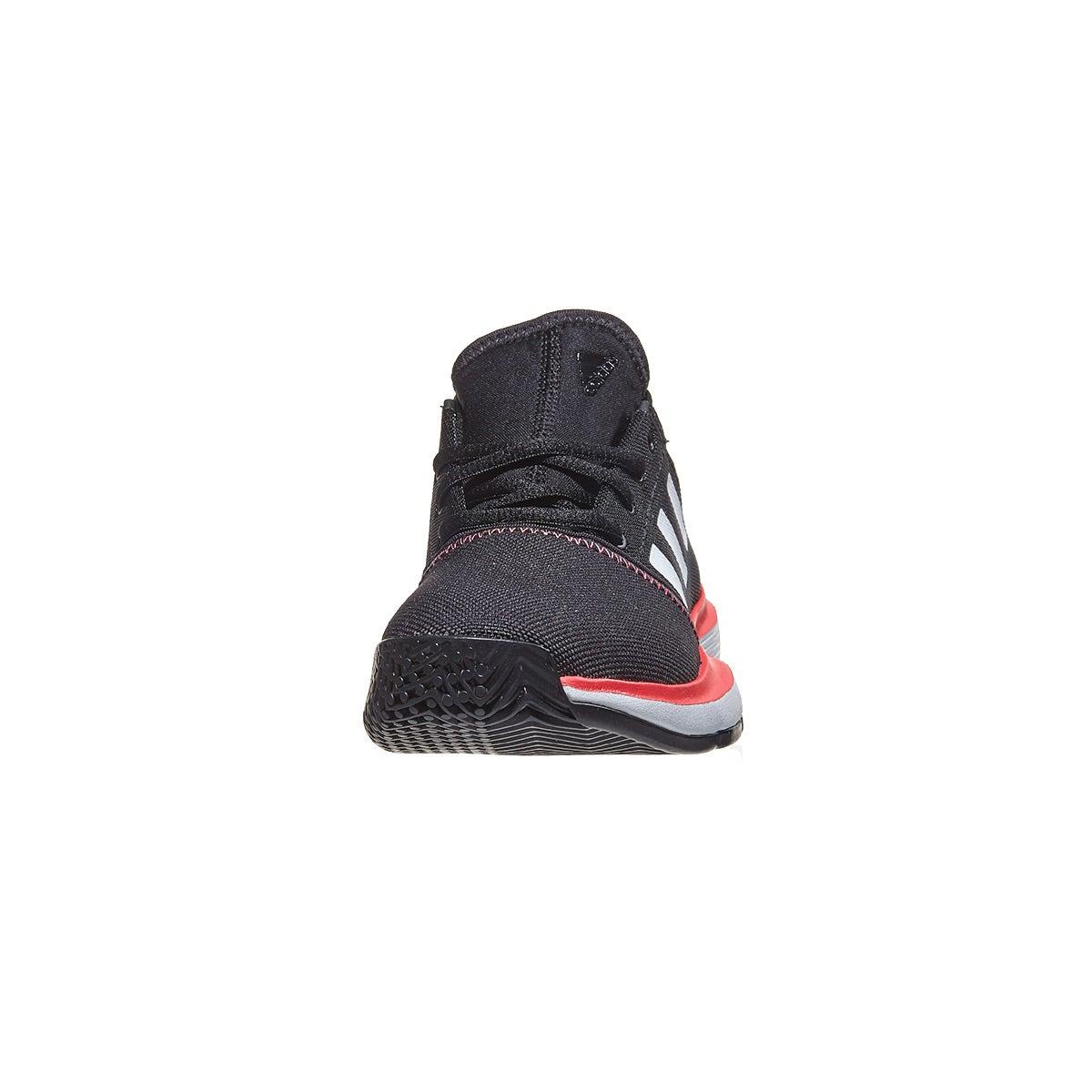 18909deaa80 adidas SoleCourt xJ Black/Red Junior Shoes 360° View