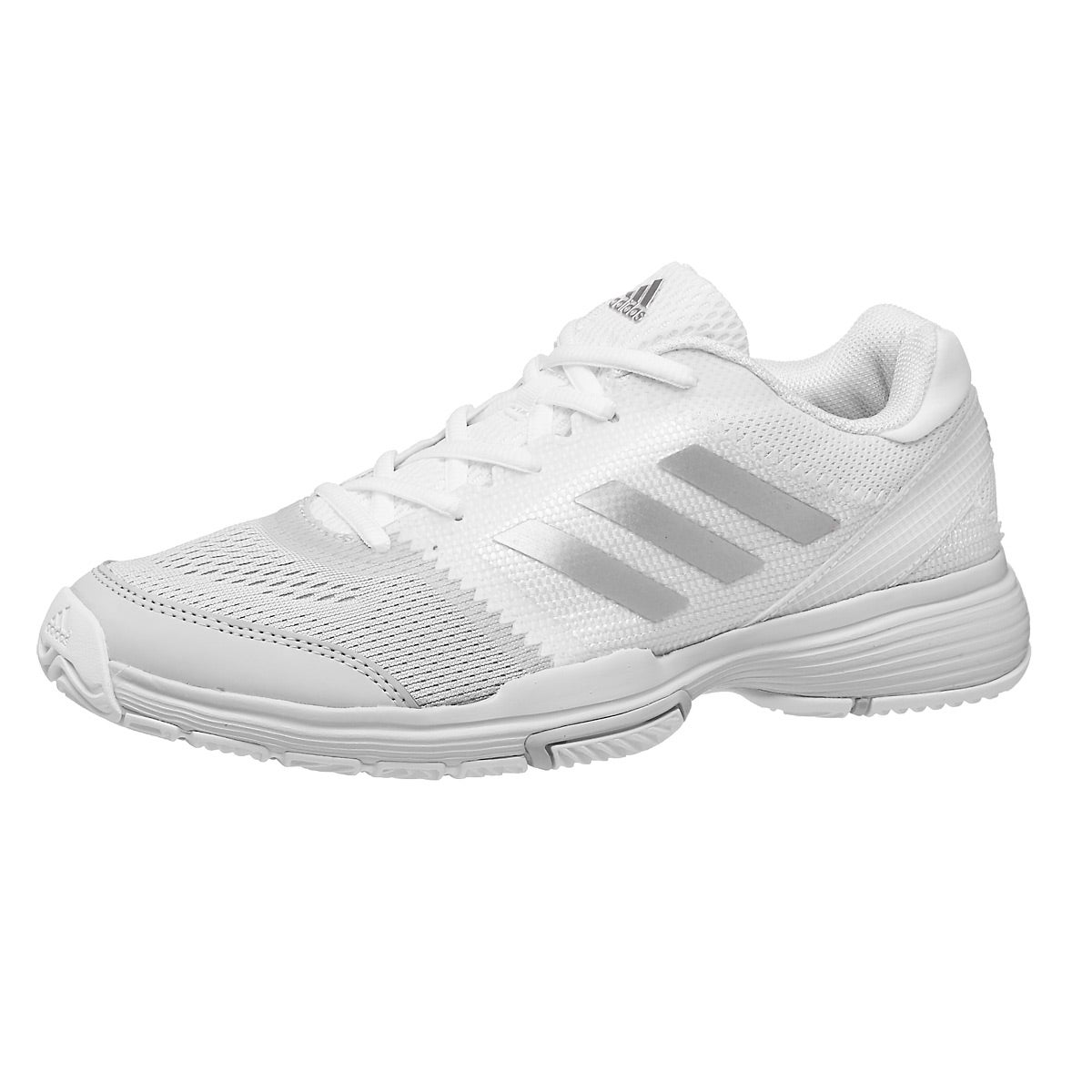 adidas barrikade club weiß / grau / silber damenschuhe 360 ° blick