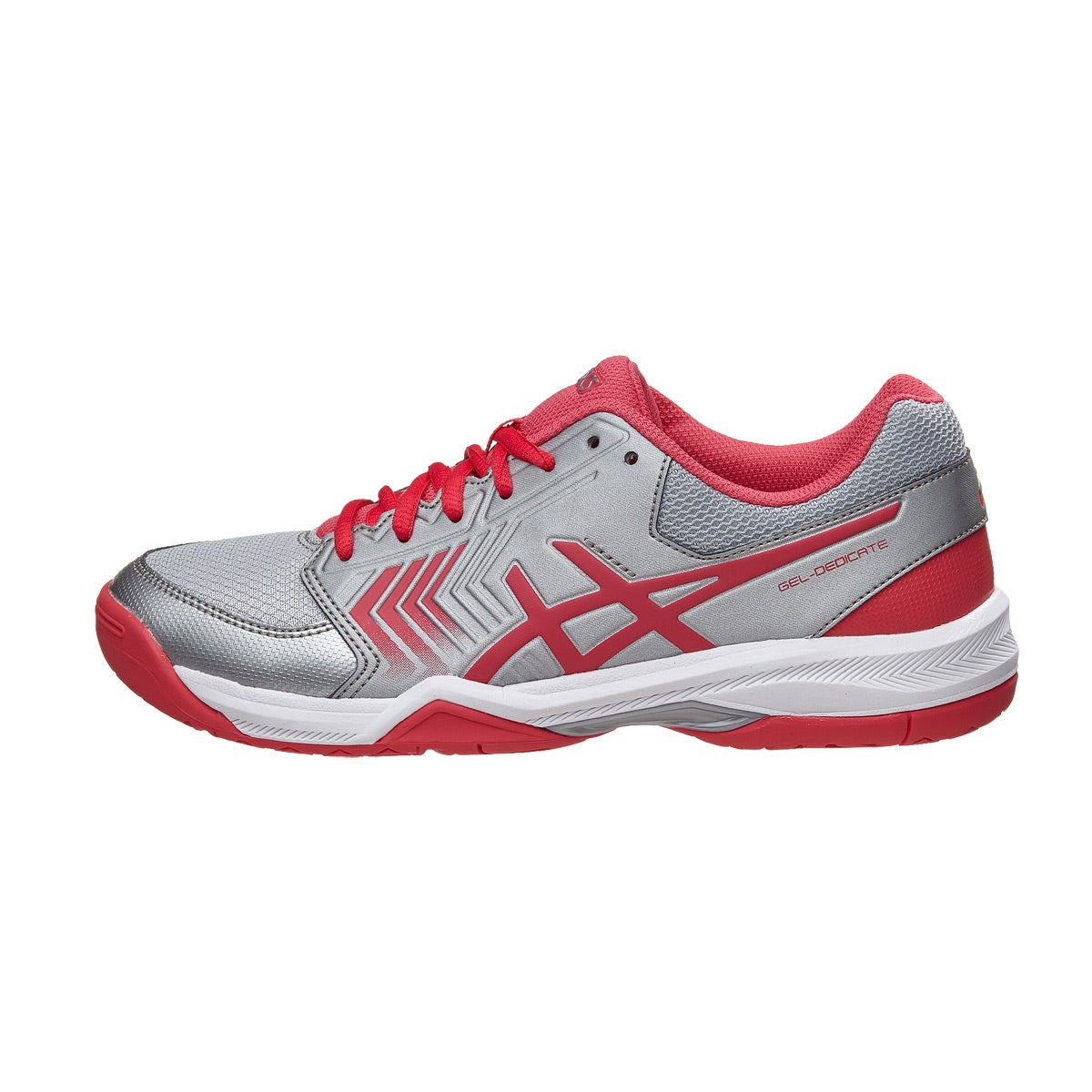 Asics Gel Dedicate 5 Silver/Pink/White Women's Shoes 360° View