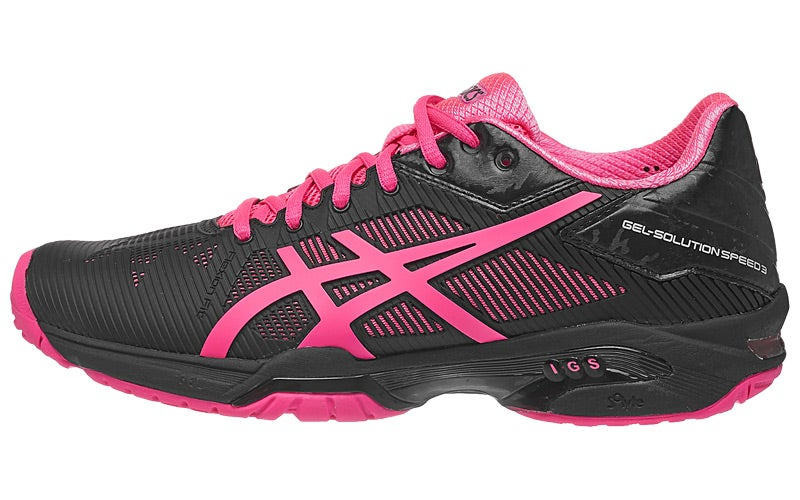 Asics Gel Solution Speed 3 Black/Pink/Sil Women's Shoes ...