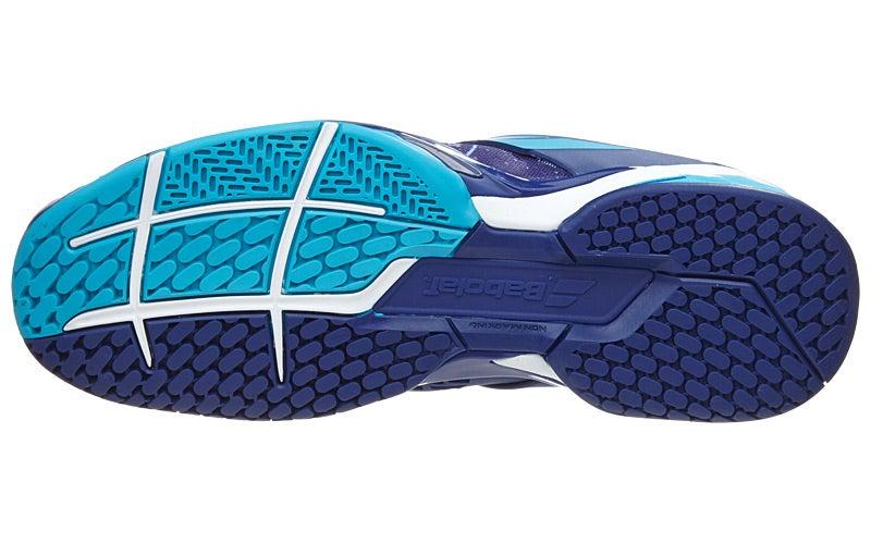 Babolat Tennis Shoes >> Babolat Propulse AC Wimbledon Navy/White Men's Shoes 360° View
