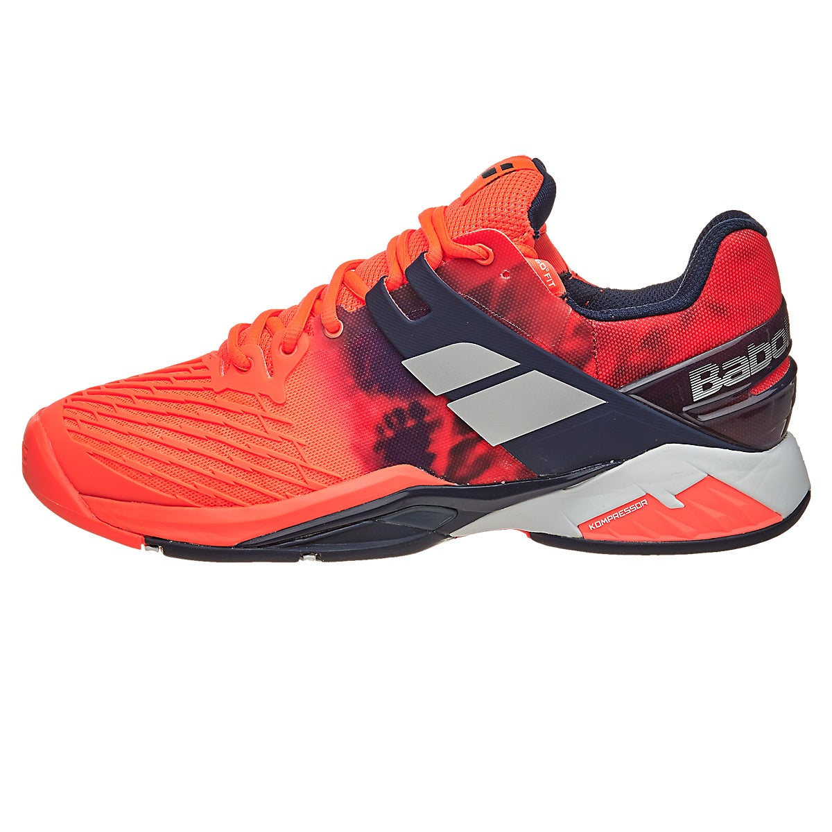 Babolat Tennis Shoes >> Babolat Propulse Fury Fluro Red Men's Shoes 360° View