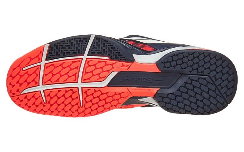 Babolat Tennis Shoes >> Babolat Propulse Fury Fluro Red Men's Shoes 360° View