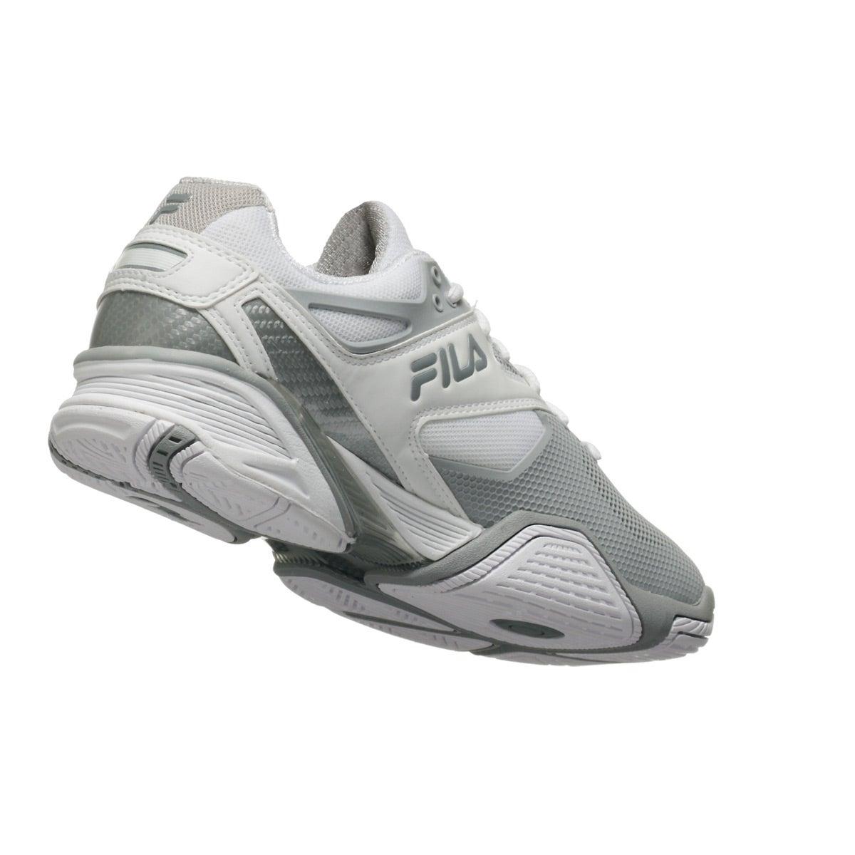 0faea6da38b0 Fila Sentinel White Silver Women s Shoes 360° View
