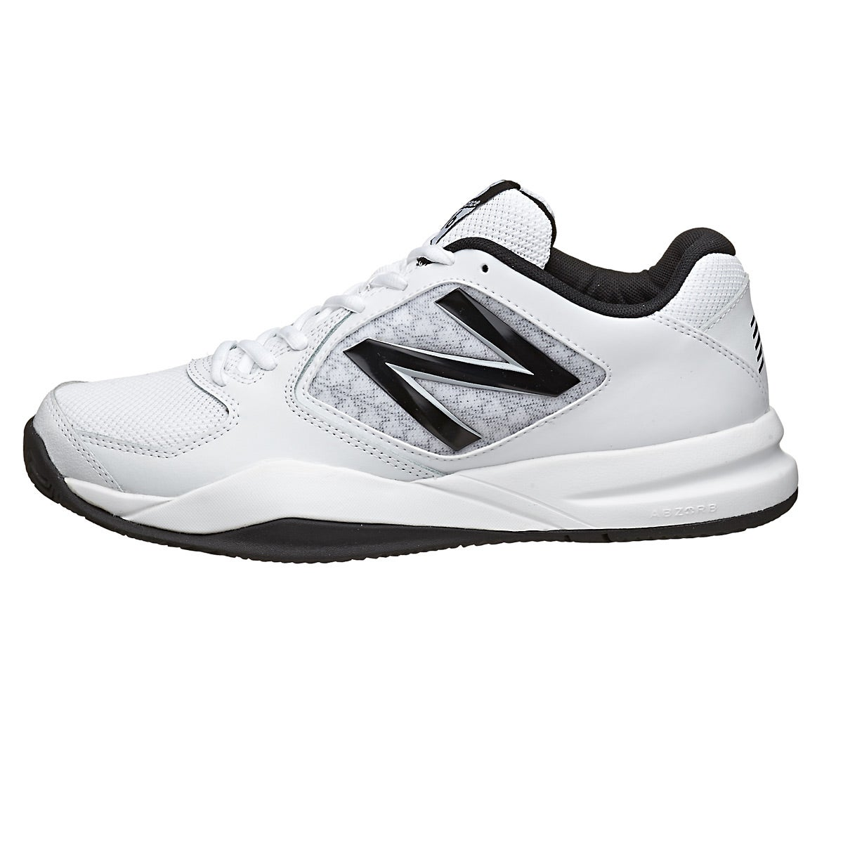 New Balance MC 696v2 D White/Black Men's Shoes 360° View