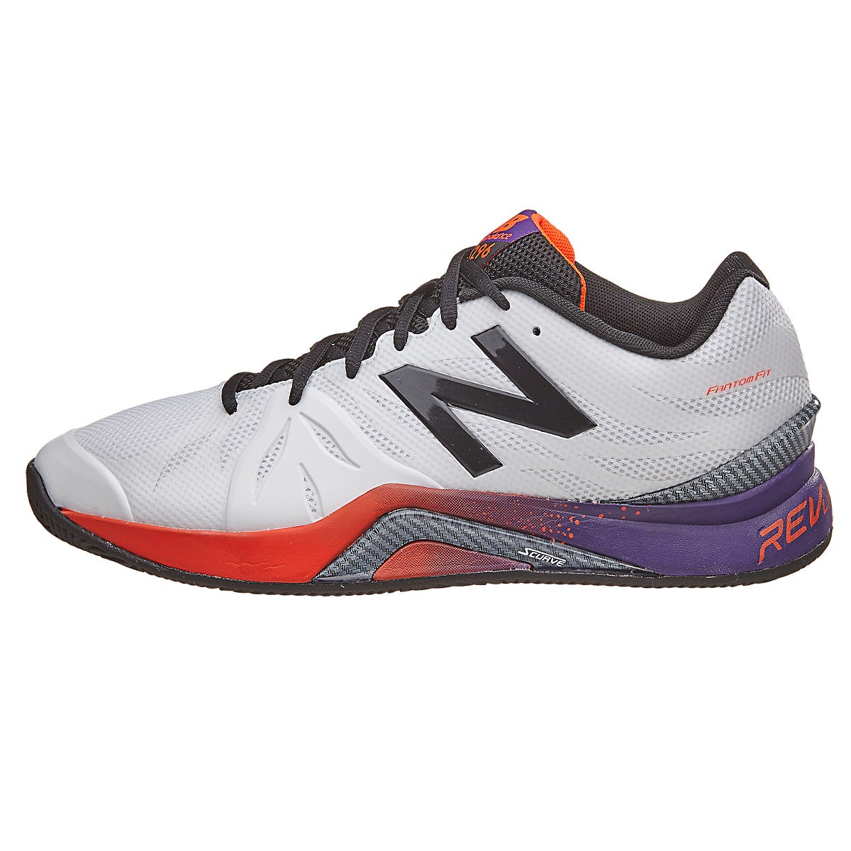 New Balance MC 1296v2 D White/Plum Men's Shoes 360° View