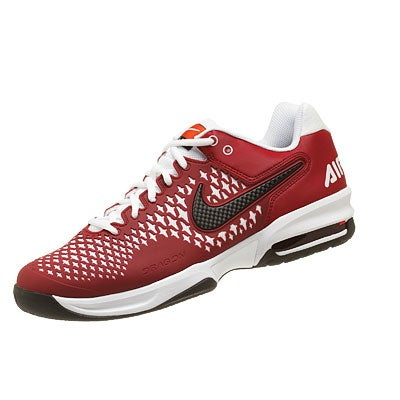 Nike Air Max Cage TS Maroon/White Shoe 360° View.