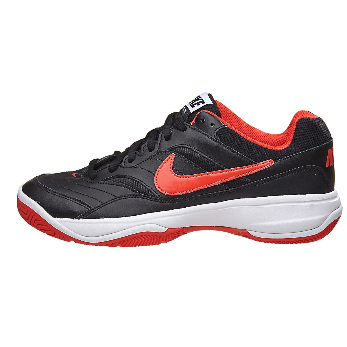 Nike Court Lite Black/Orange/White Men\u0027s Shoes 360� View.