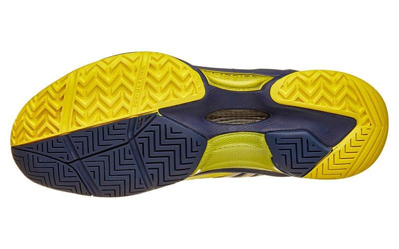 Yonex Power Cushion Eclipsion Yellow Navy Mens Shoe 360 View