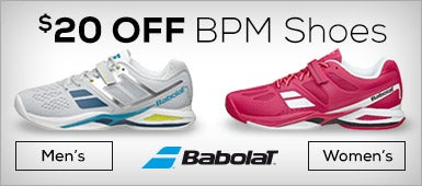 $20 OFF Babolat Men's and Women's BMP Shoes