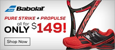 Babolat Pure Strike and Propulse Shoe for only $149