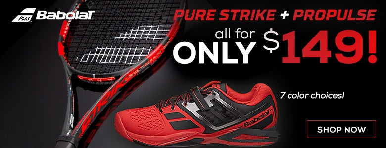 Babolat Pure Strike and Pro Pulse Shoe for only $149