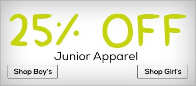 25% OFF Junior Apparel