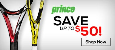 Save up to $50 on Prince Racquets