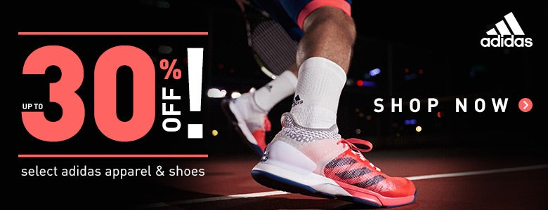 up to 30% off adidas shoes and apparel