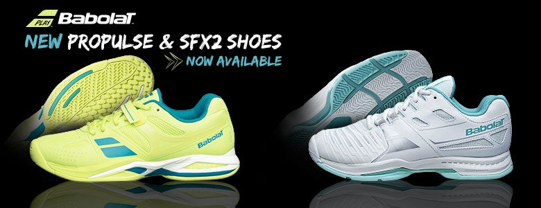 New Women's Babolat Propulse and SFX2 Shoes