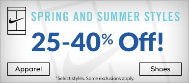 25-40$ off Nike Spring and Summer Apparel