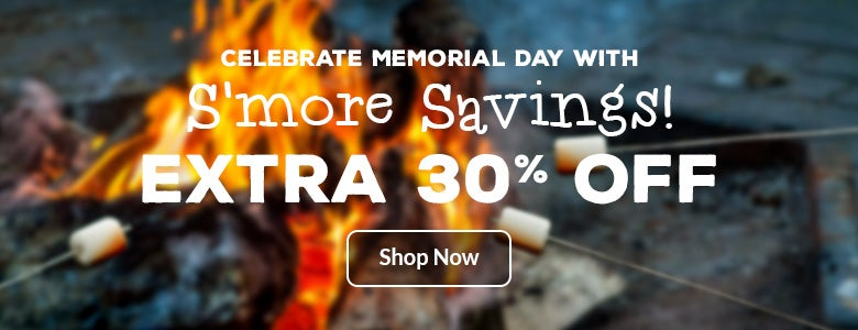 Celebrate Memorial Day with an extra 30% off!