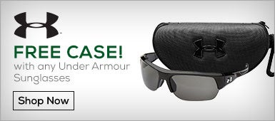 Free Case with Any Under Armour Sunglass Purchase