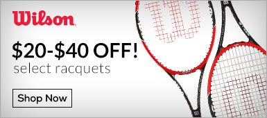 $20 Off Select Wilson Racquets!
