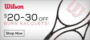 $20-30 Off Wilson Burn Racquets