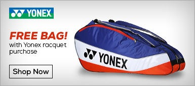 Free Bag with Yonex Racquet Purchase