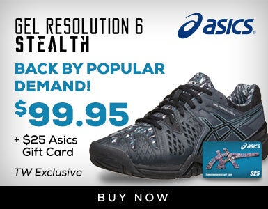Asics Gel Resolution 6 Stealth $89.95 Plus Gift Card (P)