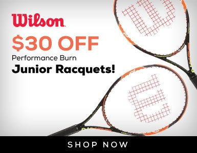 $30 Off Wilson JR Burn Racquets 11/25-TBD