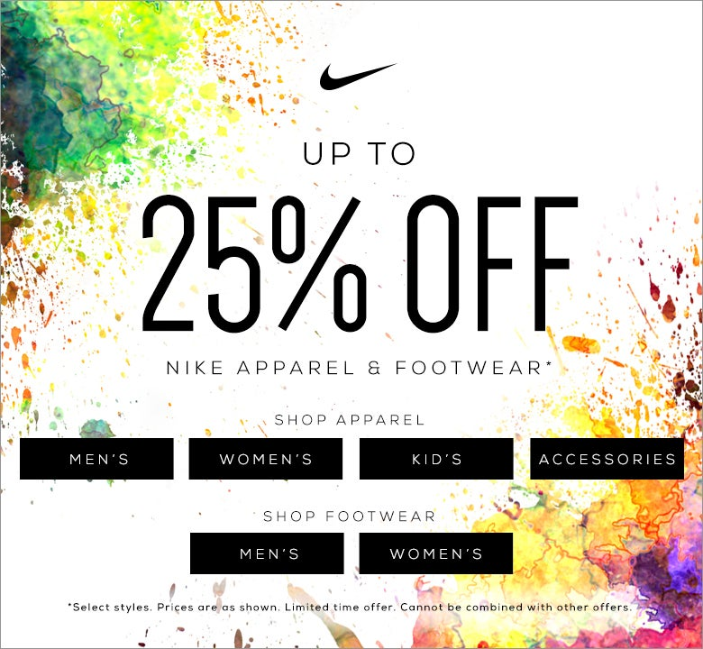 Up to 25% Off! Nike Fall Apparel Sale