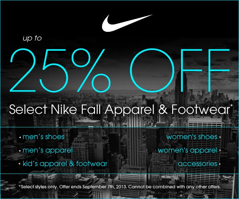 Nike Fall Apparel & Footwear Sale! Upt to 25% Off