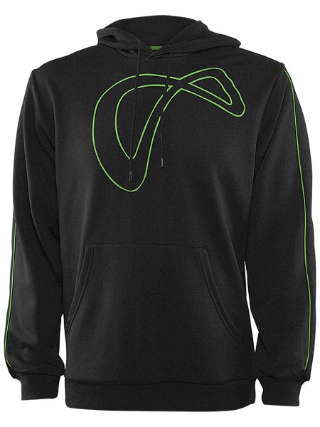 Athletic DNA Men's Spring Pullover Hoodie in Black w/Lime