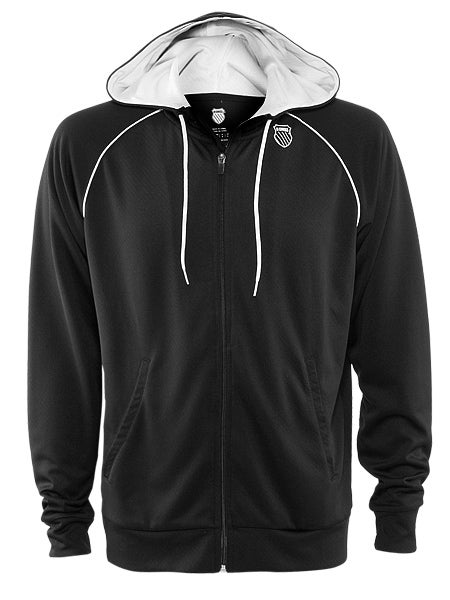 KSwiss Men's New Accomplish Hoodie in Black/White