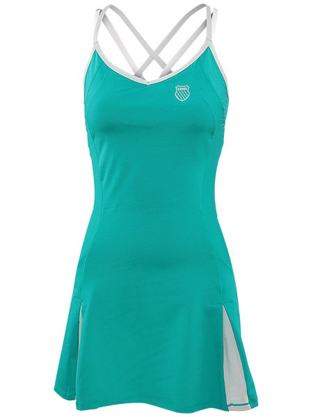 KSwiss Women's Summer Spliced Dress in Deep Peacock