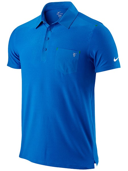Nike Men's Summer 1 RF Smash Clay Polo in Soar Blue