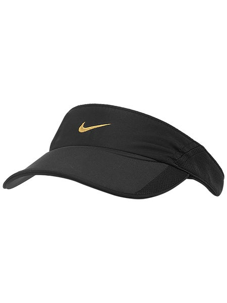 Nike Women's Summer Feather Light Visor Black/Gold