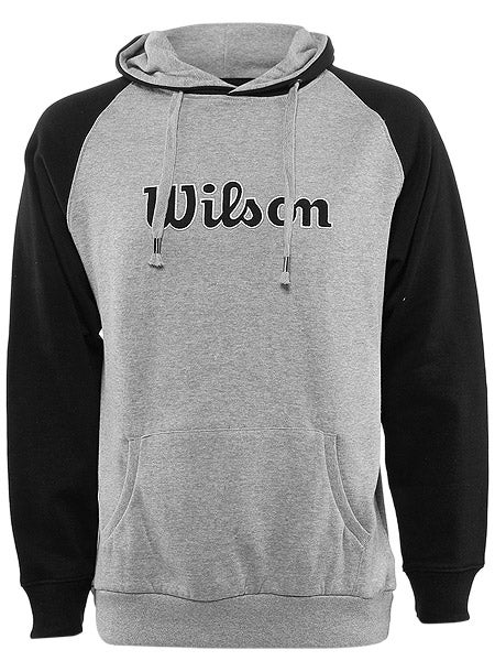 Wilson Men's Fleece Raglan Hoodie in Grey w/Black