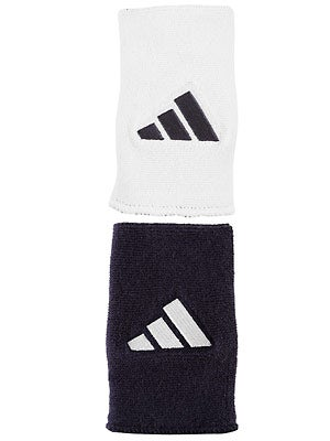 adidas Interval Large Reversible Wristband Navy/White