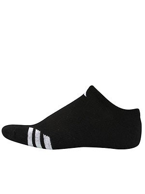 adidas Men's New 3-Stripe No-Show 3-Pack Socks Black