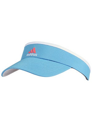 adidas Women's Match Visor Joy Blue/Red Zest