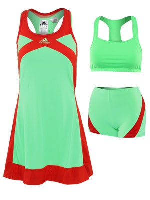 adidas - adizero Dress (Super Green/Core Energy) - Apparel