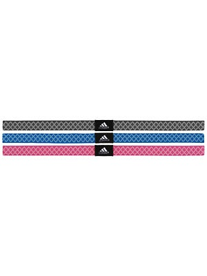 adidas Women Shimmy Hairbands 3-Pack Pink/Sky/Bl